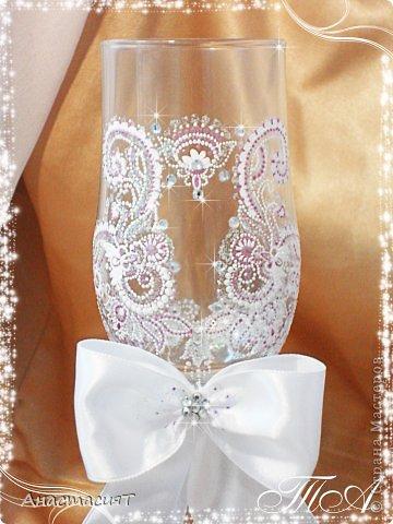 Мои новые свадебные бокалы. Продолжаю тему востока. =))) фото 2
