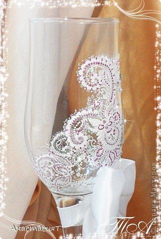 Мои новые свадебные бокалы. Продолжаю тему востока. =))) фото 3