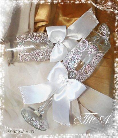 Мои новые свадебные бокалы. Продолжаю тему востока. =))) фото 1