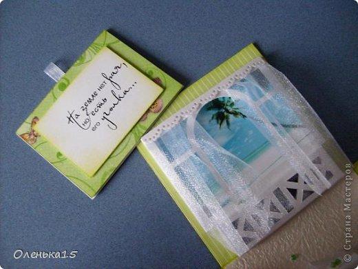 Magic box на День рождения, на заказ - для подруги, которая живет далеко. Акварельная бумага, бумага для скрапбукинга, ленты, подвески, органза, бусинки, бисер, зёрна кофе. 9*9см. фото 12