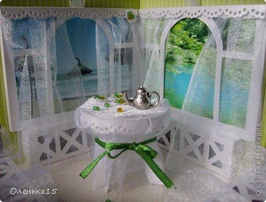 Magic box на День рождения, на заказ - для подруги, которая живет далеко. Акварельная бумага, бумага для скрапбукинга, ленты, подвески, органза, бусинки, бисер, зёрна кофе. 9*9см. фото 9