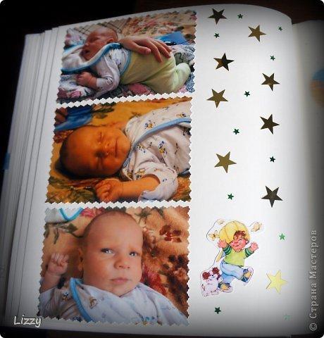 """В прошлом году у нас родился сыночек :-) Естественно, я сразу же приобрела альбомы :-) Обложка простая, да и альбом """"бюджетный"""", т.к. фотографий очень много, а материалы для скрапа достаточно дорогие.. Вот обложка.. фото 12"""