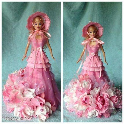 """Здравствуйте,милые девочки! Наконец то я выхожу из подполья. Представляю на ваш суд куклу с конфетами для моей внучки Ксюши на ёе десятилетие(по её словам""""первый юбилей"""")  Спасибо Екатерине Шабановой за идею,Олюшке Титовой за советы и многим другим мастерам за вдохновение фото 12"""