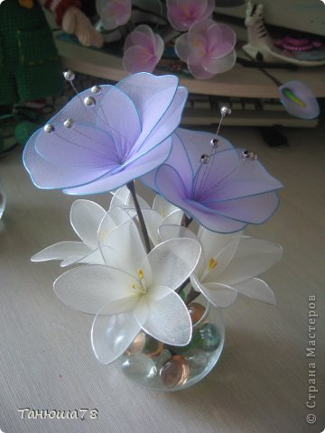 нежная композиция, светлые цветы- цвета ванили, сама нежность фото 4