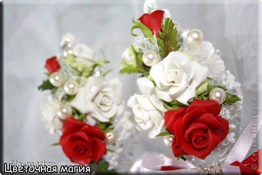 Бокалы на свадьбу (холодный фарфор) фото 2