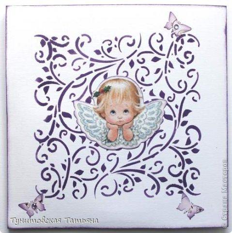 К сожалению фотоаппарат искажает цвета. Фото ангелочка взяла здесь и распечатала: http://valya121188.blogspot.de/2011/05/angel-art-dona-gelsinger.html   фото 3