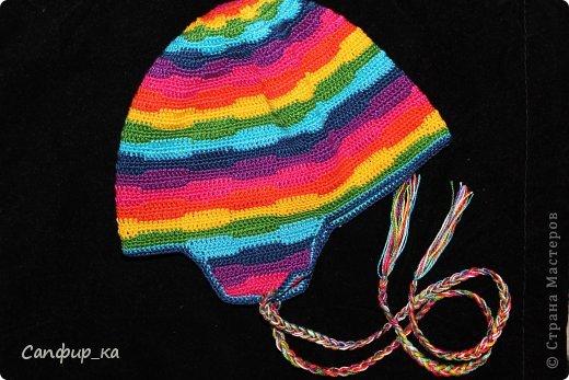 Вот связала сынуле шапку цвета радуги! фото 5