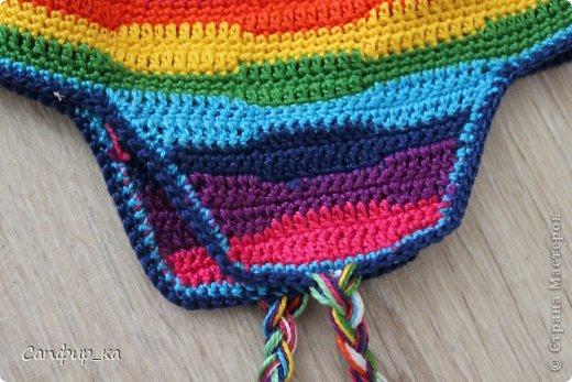 Вот связала сынуле шапку цвета радуги! фото 8