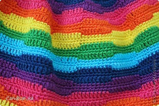 Вот связала сынуле шапку цвета радуги! фото 4