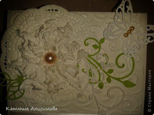 Доброго времени суток!!! Вот такая вот зелёненькая открыточка на свадьбу у меня в этот раз родилась...  фото 3