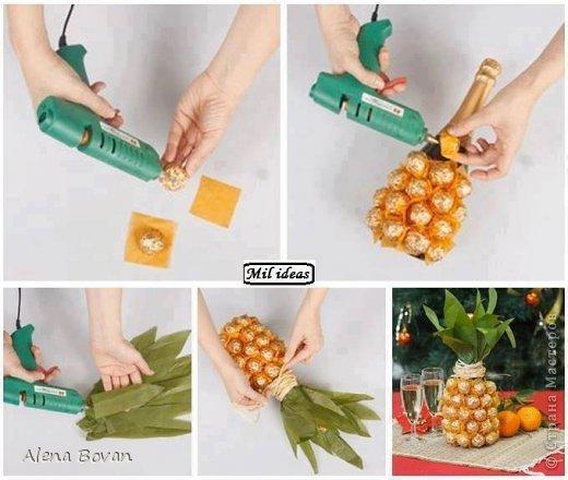Здравствуйте, дорогие соседи!! увидела на просторах ин-эта ананас, который очень мне понравился, и решила такой сделать подружке на День рождения, что получилось судить Вам... фото 9