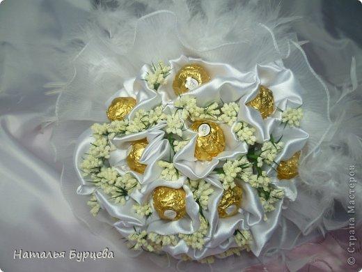 Здравствуйте дорогие жители СМ. Первый раз делаю свадебный букет, очень волнуюсь). фото 9