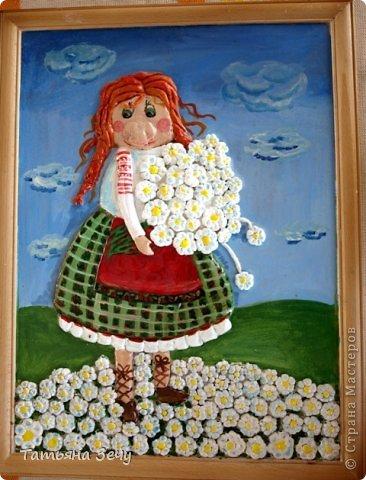 Решили с детками продолжить лепить работы по мотивам картин Виктории Процив, уж очень они нам нравятся. фото 5