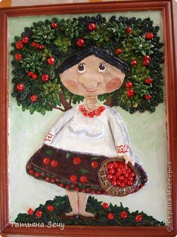 Решили с детками продолжить лепить работы по мотивам картин Виктории Процив, уж очень они нам нравятся. фото 6
