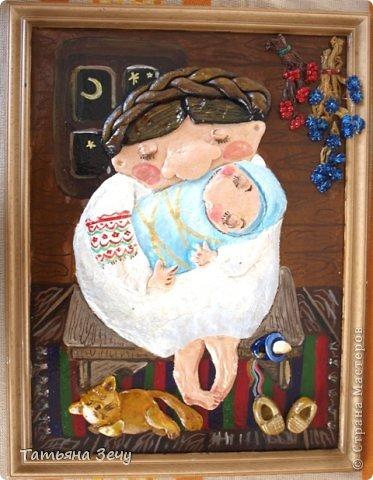 Решили с детками продолжить лепить работы по мотивам картин Виктории Процив, уж очень они нам нравятся. фото 7