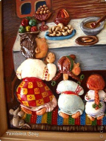 Решили с детками продолжить лепить работы по мотивам картин Виктории Процив, уж очень они нам нравятся. фото 2