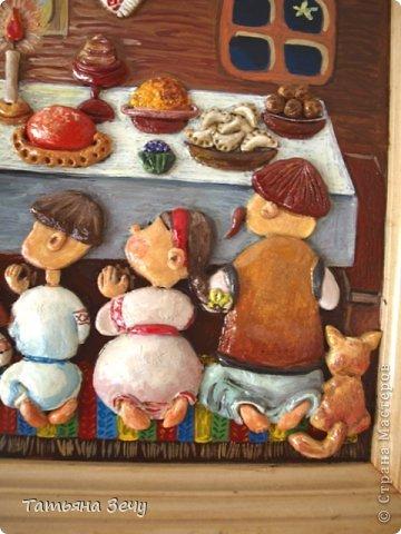 Решили с детками продолжить лепить работы по мотивам картин Виктории Процив, уж очень они нам нравятся. фото 3