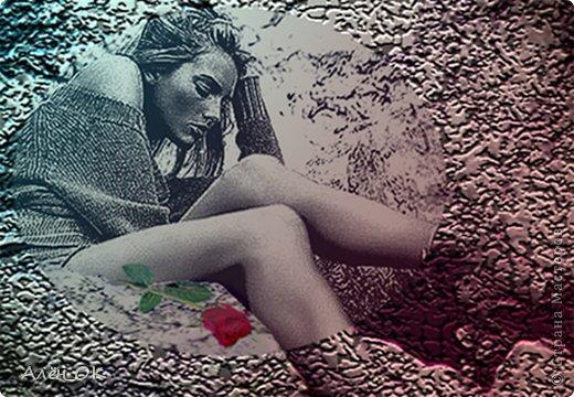 """Одно время увлекалась фотошопом.Недолго,правда.Не знаю почему,вдруг решила показать свои """"шедевры"""" на суд мастеров и мастериц.В надежде,что конструктивная критика сподвигнет меня на новые творения и  освоение разных техник фотошопа.) Это я.) Коллаж """"Ассоль"""". фото 8"""