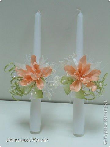 Семейный очаг для моложоженов! (Все цветы выполены из нажелатининого креп-сатина и обработаны бульками). фото 2