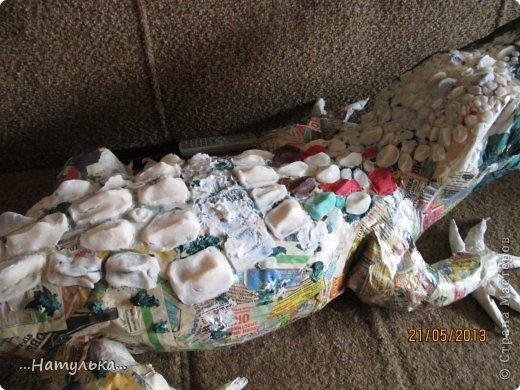 Мастер-класс Папье-маше Знакомьтесь - Малыш Бумага газетная Гипс Клей Краска Салфетки Фарфор холодный фото 12
