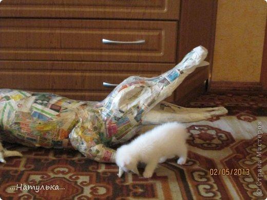 Мастер-класс Папье-маше Знакомьтесь - Малыш Бумага газетная Гипс Клей Краска Салфетки Фарфор холодный фото 9