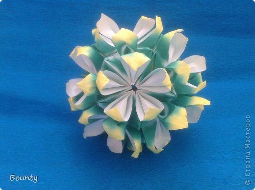 Здравствуйте! Сегодня я хочу представить вашему вниманию кусудаму Passiflora by Ekaterina Lukasheva. Name: Passiflora Paper size: 7,5*7,5 фото 2