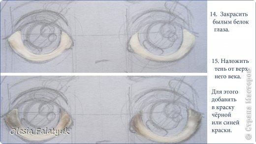 Мастер-класс Урок рисования Рисование и живопись Как я рисую лица своим куклам Дети Краска фото 15