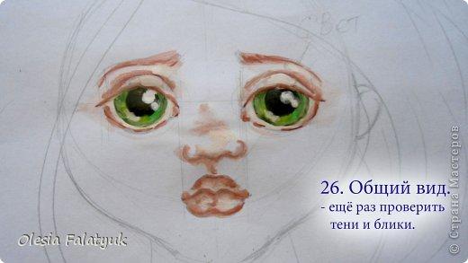 Мастер-класс Урок рисования Рисование и живопись Как я рисую лица своим куклам Дети Краска фото 26