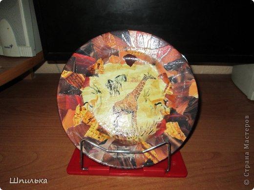 """""""Летнее настроение"""" тарелочка(материал:Тарелка,салфетка,яич.скорлупа,клей ПВА,лак акриловый,краска акриловая белая) фото 22"""