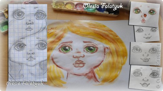 Мастер-класс Урок рисования Рисование и живопись Как я рисую лица своим куклам Дети Краска фото 1