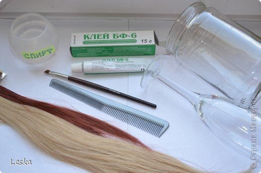 Дорогие мастерицы!!! Давно хотела поделиться своими знаниями об украшениях из волос. Называются такие изделия- постиж. Используются как натуральные, так и искусственные волосы. Волосы можно приобрести  в специализированных магазинах. Я живу в Санкт-Петербурге, у нас таких магазинов много, например *HairShop*... Делаю, для наглядности, три лепестка, ну а вам предоставляю поле для фантазии: лепестков может быть разное количество, они могут быть разных цветов и оттенков, тычинки-любые виды бусин, страз...броши...и т.д.  фото 2
