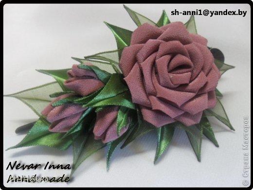 Цветы из бархата мастер класс