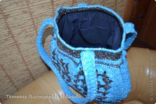 """Доброго времени суток дорогие мои жители нашей страны! И вновь я представляю новую коллекцию сумок из моих любимых пакетов. Первая сумка пляжная связана в подарок коллеге по работе. Я её назвала """"Подсолнух"""". фото 14"""