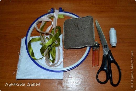 Мастер-класс Вышивка Вышивка лентами для новичков МК Ленты фото 2