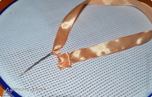 Мастер-класс Вышивка Вышивка лентами для новичков МК Ленты фото 6