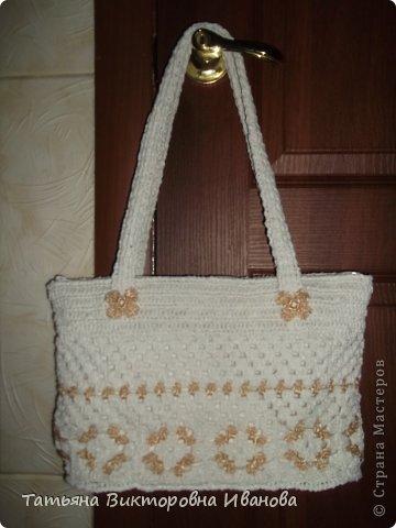"""Доброго времени суток дорогие мои жители нашей страны! И вновь я представляю новую коллекцию сумок из моих любимых пакетов. Первая сумка пляжная связана в подарок коллеге по работе. Я её назвала """"Подсолнух"""". фото 6"""