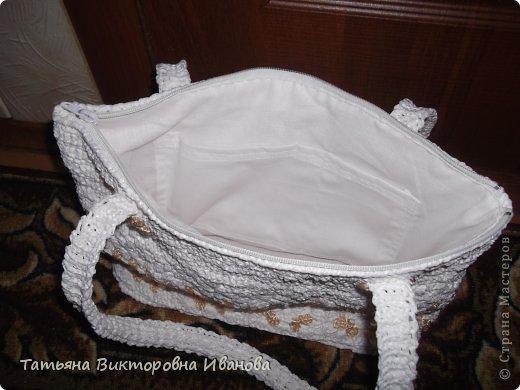 """Доброго времени суток дорогие мои жители нашей страны! И вновь я представляю новую коллекцию сумок из моих любимых пакетов. Первая сумка пляжная связана в подарок коллеге по работе. Я её назвала """"Подсолнух"""". фото 8"""