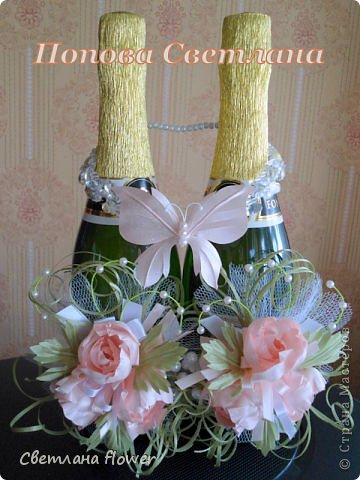 Семейный очаг для моложоженов! (Все цветы выполены из нажелатининого креп-сатина и обработаны бульками). фото 19