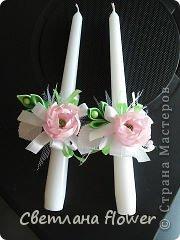 Семейный очаг для моложоженов! (Все цветы выполены из нажелатининого креп-сатина и обработаны бульками). фото 20
