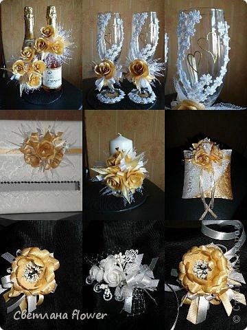 Семейный очаг для моложоженов! (Все цветы выполены из нажелатининого креп-сатина и обработаны бульками). фото 38