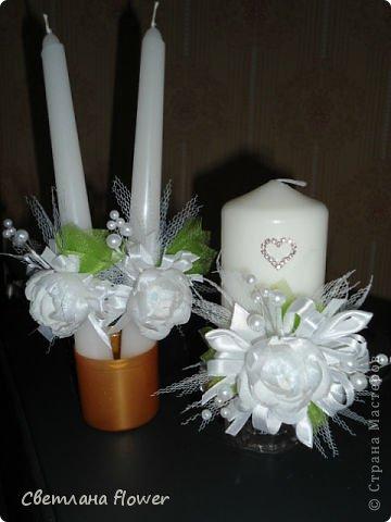 Семейный очаг для моложоженов! (Все цветы выполены из нажелатининого креп-сатина и обработаны бульками). фото 43