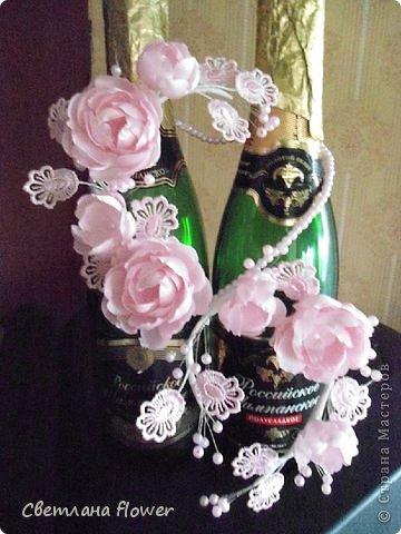 Семейный очаг для моложоженов! (Все цветы выполены из нажелатининого креп-сатина и обработаны бульками). фото 46