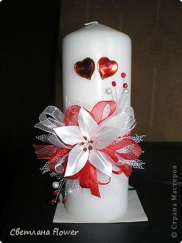 Семейный очаг для моложоженов! (Все цветы выполены из нажелатининого креп-сатина и обработаны бульками). фото 50