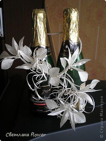 Семейный очаг для моложоженов! (Все цветы выполены из нажелатининого креп-сатина и обработаны бульками). фото 54