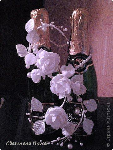 Семейный очаг для моложоженов! (Все цветы выполены из нажелатининого креп-сатина и обработаны бульками). фото 56