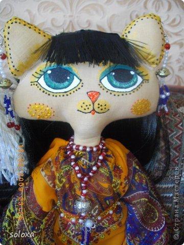 Мастер-класс Шитьё Кошка этническая Ткань фото 1