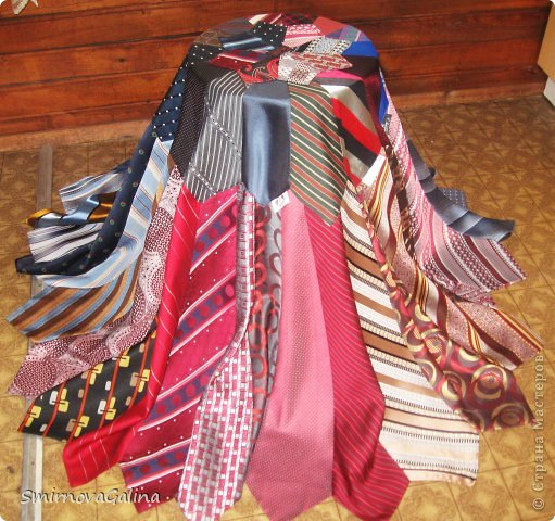 Скатерть из галстуков   фото 2