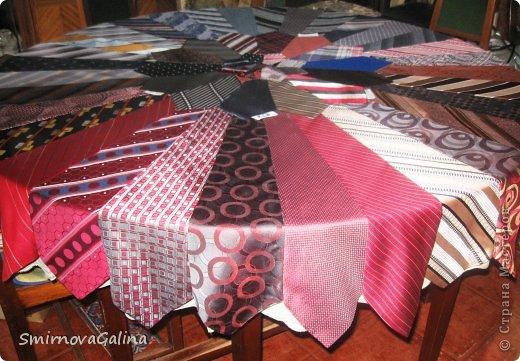 Скатерть из галстуков   фото 5
