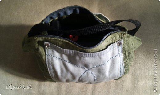 Моя первая сумочка из кожзама и ткани, внутри синтепон, подкладка, один карман. фото 28