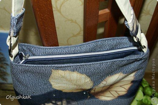 Моя первая сумочка из кожзама и ткани, внутри синтепон, подкладка, один карман. фото 5